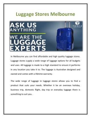 Luggage Store Melbourne