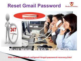 Are you looking to Reset Gmail Password 1-850-366-6203?