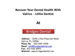 Make A Valrico Dentist Appointment Today - Bridges Dental