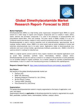 Global Dimethylacetamide Market Research Report- Forecast to 2022