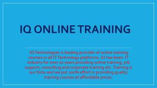 Live, instructor-led  Sales Force Online Training - IQ Online Training