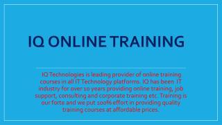 Live, instructor-led  Sales Force Online Training - IQ Online Training