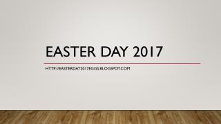 Easter Day Message 2017