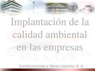 Implantaci n de la calidad ambiental en las empresas