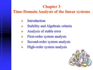 Chapter 3  Time-Domain Analysis of the linear systems