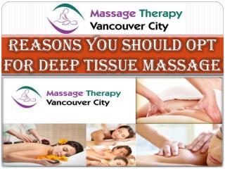 Benefits of Deep Tissue Massage