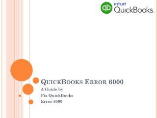 QuickBooks Erroe Code 6000
