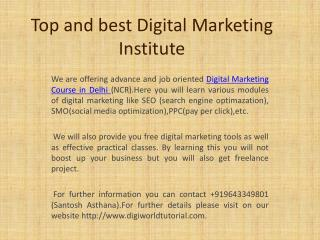 Best Digital Marketing Course in Delhi (ncr)