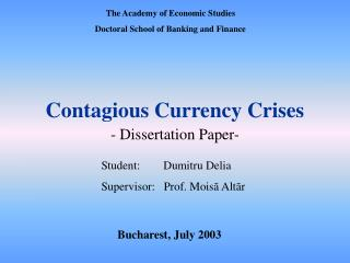 Contagious Currency Crises