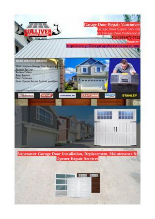 Garage Door Repair Vancouver | Garage Door Installation