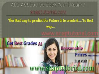 ACC 455 Course Success is a Tradition - snaptutorial.com