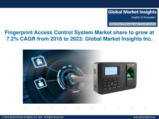 Optical Fingerprint Access Control System Market forecast to exceed $1.75bn by 2023
