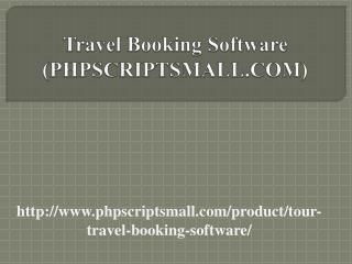 Travel Booking Software (PHPSCRIPTSMALL.COM)