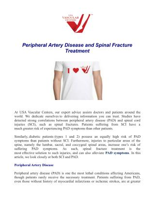 Peripheral Artery Disease and Spinal Fracture Treatment