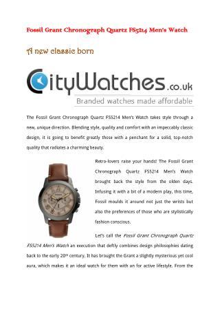 Fossil Grant Chronograph Quartz FS5214 Men's Watch