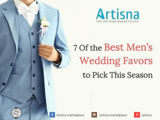 7 Of the Best Men's Wedding Favors to Pick This Season