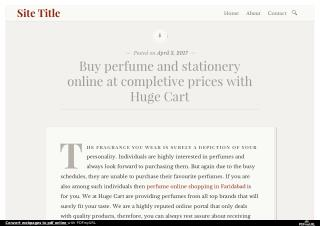 Buy perfume and stationery online at completive prices with Huge Cart