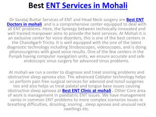 Best ENT Services in Mohali