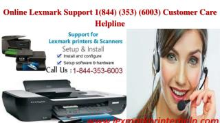Lexmark Email Support 1-844-353-6003 Tech Support Lexmark