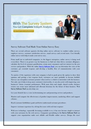 Survey Software Tool Made Your Online Survey Easy