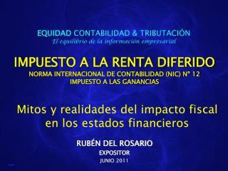 IMPUESTO A LA RENTA DIFERIDO NORMA INTERNACIONAL DE CONTABILIDAD NIC N  12 IMPUESTO A LAS GANANCIAS