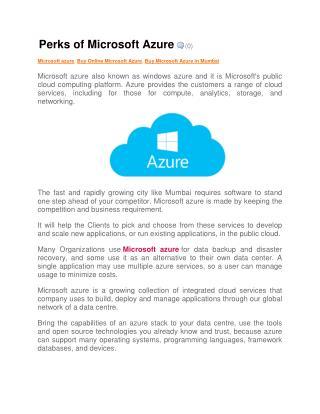 Perks of Microsoft Azure