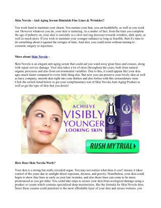 Skin Novela - Anti Aging Serum Diminish Fine Lines & Wrinkles!!
