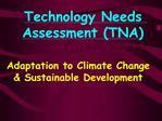 Technology Needs Assessment TNA