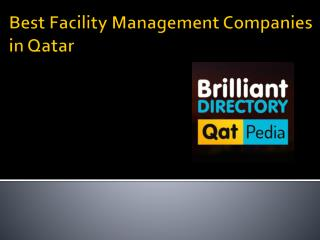 Facility Management Companies in Qatar