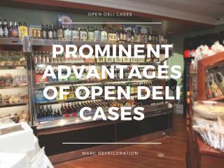 stylish and elegantly designed deli display cases