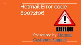 Hotmail Error Code