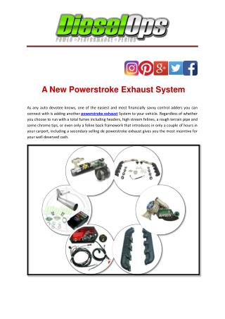 A New Powerstroke Exhaust System