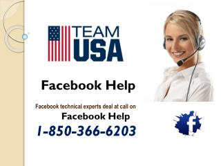 Why should I opt for Facebook Help @1-850-366-6203?