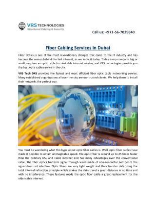 Fiber Cabling Services