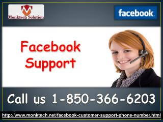 Who is Facebook Support team 1-850-366-6203?