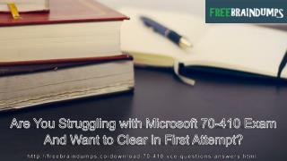 Validate Your Microsoft 70-410 MCSA Windows Server 2012 Certification Exam With Updated 70-410 Exam dumps