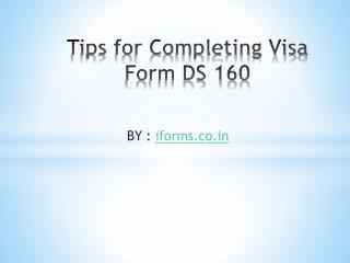 Download DS 160 US Visa Application Form