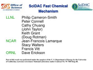 SciDAC Fast Chemical Mechanism