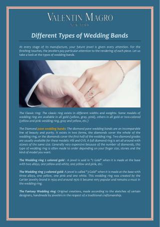 Different Types of Wedding Bands