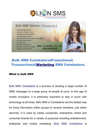 Bulk SMS Coimbatore | Marketing SMS Coimbatore | bulksmscoimbatore.net