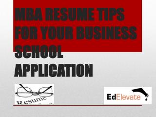 MBA admission in USA-MBA Resume Tips