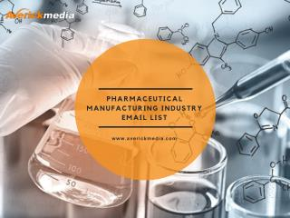 Pharmaceutical Manufacturing Industry Email List