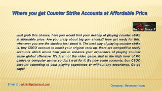 Where you get counter strike accounts at affordable price