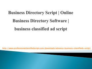 Business Directory Script | Online Business Directory Software | business classified ad script