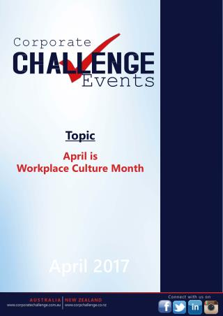 April is Workplace Culture Month