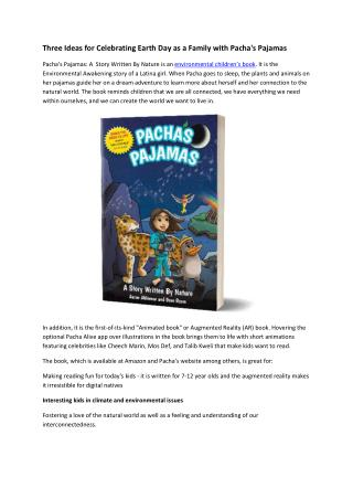 environmental children's books, augmented reality children's book, children's book dancing challenge - pacha's pajamas