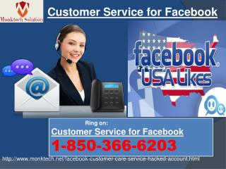 Get without charge help of Customer Service for Facebook @1-850-366-6203