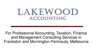 Accounting & Bookkeeping services in Frankston and Mornington Peninsula, Melbourne
