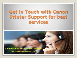 Get in Touch with Canon Printer Support for best services