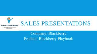 Sample PPT on Sales Presentations by Instant Essay Writing